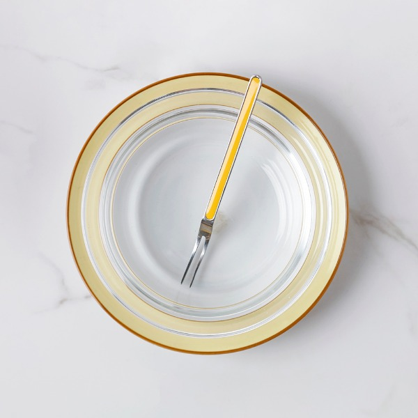 lemon plate & bowl + fork